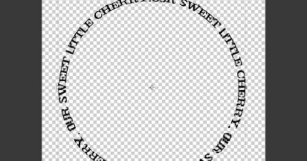 how to make text circular in word