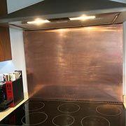 Copper Kitchen Splashback Copper Splashback Copper Backsplash Splashback