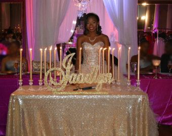 Custom Names For Sweet Sixteen Parties And More By Glitterfuls Sweet 16 Candelabra Sweet 16 Centerpieces Sweet 16 Candles