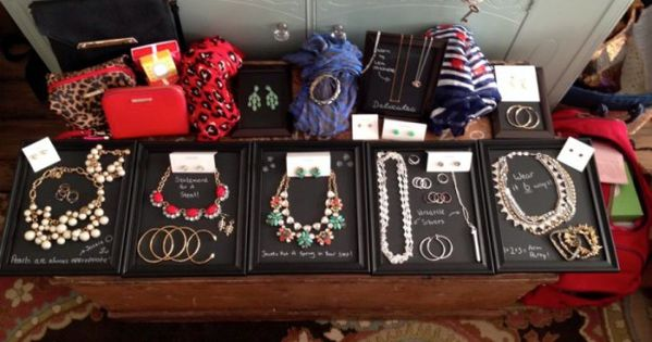 Easy jewelry display ideas more jewellery display and for Dollar jewelry and more