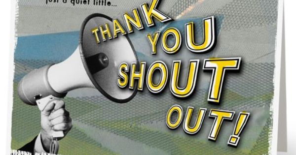Give your employees a shout out for their great work ...