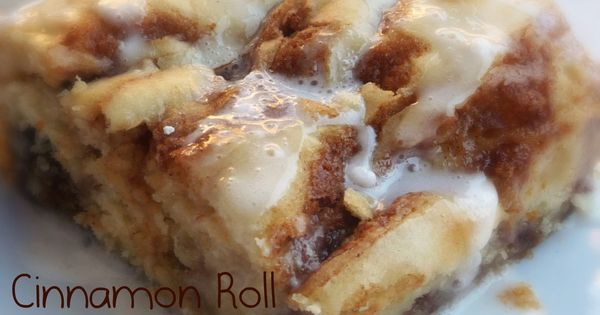 Cinnamon Roll Cake! The ooey gooey-ness of cinnamon rolls with a fraction