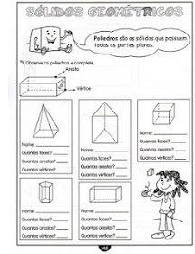 Educar Para A Vida Atividade De Matematica Aresta Vertice E