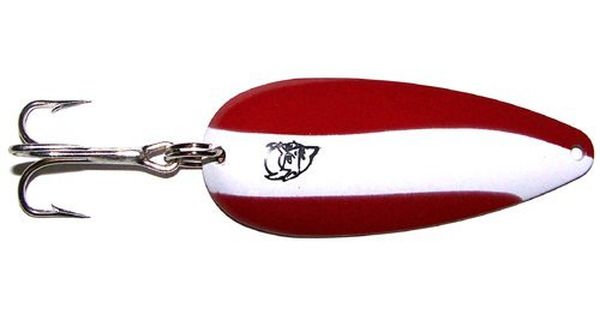 Red and white daredevle spoon works amazing for small for White bass fishing lures