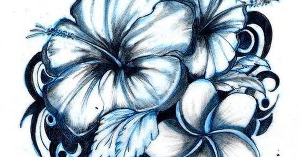 hawaiian flower tattoos great for my tat honoring my siblings!!!
