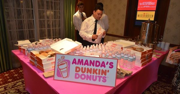 Dunkin Donuts Bar Bat Mitzvah Party Westminster Hotel