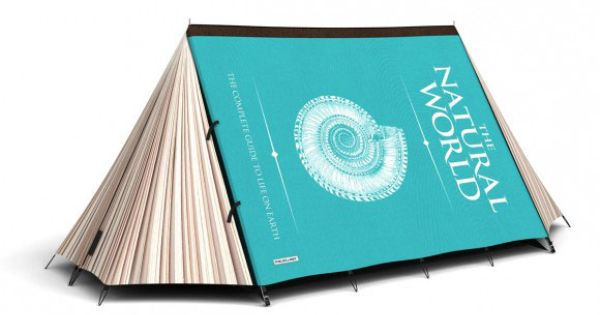 Book tent - This is a two-person tent that's waterproof, and looks