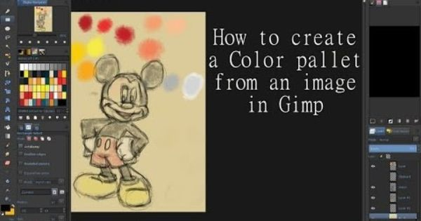 How To Create A Color Pallet From An Image In Gimp Gimp Tutorial Gimp Color Pallets