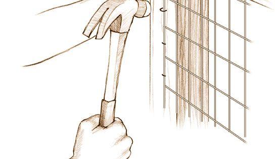 mesh fencing installation basics diy z une. Black Bedroom Furniture Sets. Home Design Ideas