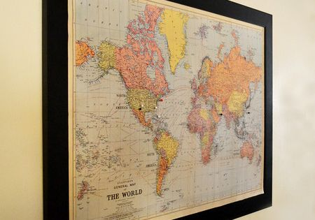 bucket list frame a world map and mark places i 39 ve been green and places i want to go red. Black Bedroom Furniture Sets. Home Design Ideas