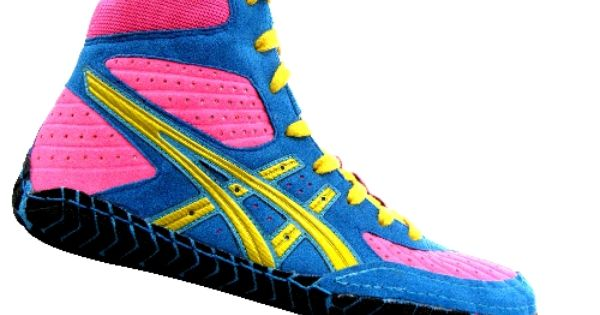Rainbow wrestling shoes! My goodness I could pull these off just ...
