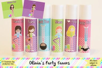 Kids Yoga Daily Kids Yoga Party Favors Are The Balm Yoga Party Spa Party Favors Party Favors