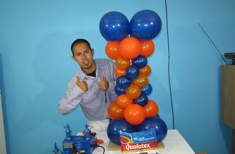 How to make a balloon column balloon decoration ideas for Balloon decoration machine