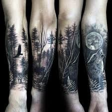 Image Result For Wolf Tattoo Sleeve Forest Tattoos Wolf Tattoo Sleeve Forest Tattoo Sleeve