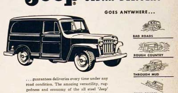 1955 Jeep 4x4 Original Vintage Ad Featuring The Sedan Delivery