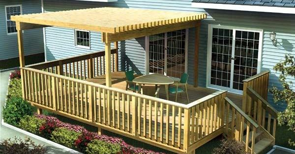 backyard deck ideas | patio deck large easy raised deck ideas photos