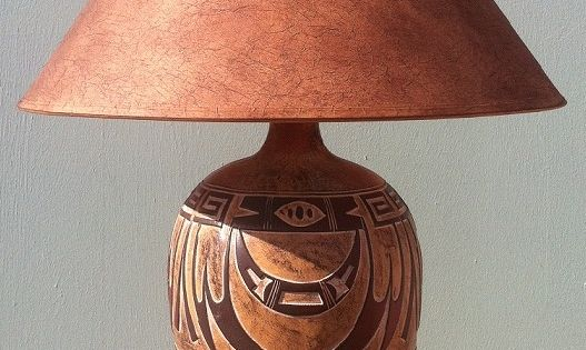 Indian Marigold Southwest Table Lamp Ach 6182 Mexican