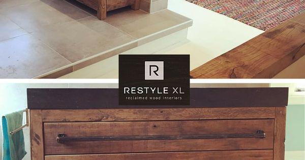 Restylexl houten badkamermeubel restylexl badkamermeubel badmeubel badkamer oudhout hout - Rustieke badkamer meubels ...