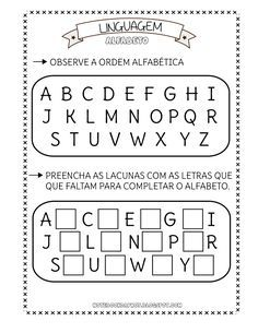 Atividades Alfabeto Atividades Atividades Com O Alfabeto E