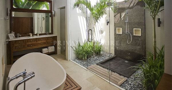 salle de bain nature salle de bains bathroom pinterest nature jungles et plantes. Black Bedroom Furniture Sets. Home Design Ideas