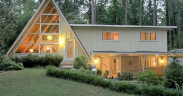 mid century modern a frame home atlanta nothing like seeing a mid century dream house on pinterest noticing its right around the corner and re