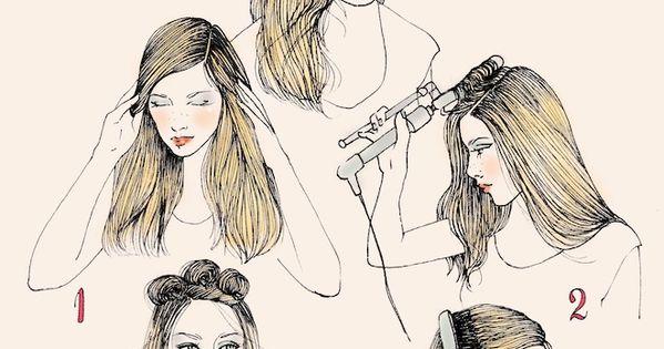 Illustrated Hair Styles by Samantha Hahn
