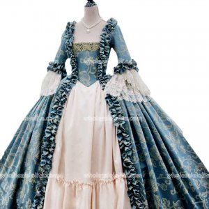 Vintage Victorian Party Dress Princess Ball Gown Masquerade Costume Fancy Dress