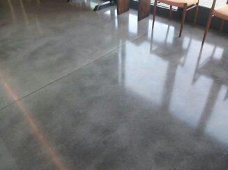 Natural Grey Concrete Floor With Sealer