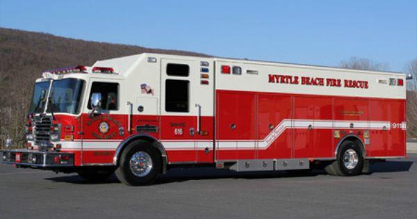 Kme Myrtle Beach Sc Fire Rescue Myrtle Beach Fire Trucks Fire Rescue Fire Dept