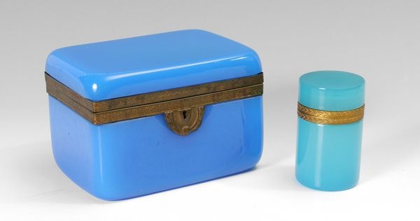 Blue Opaline Glass Boxes | Collections | Pinterest | Opaline, Glass ...