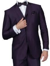 Mens Shiny Shark Skin Flashy Satin Looking Metallic Looking Vested 3 Piece Grey Suit