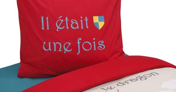 Parure de couette pour lit enfant multicolore chevalier les parures de co - Parure de couette ikea ...