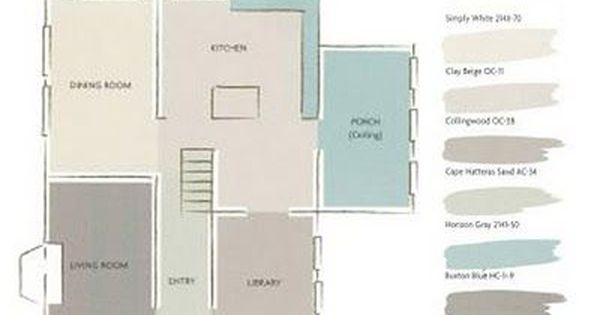 A Whole House Paint Color Plan Paint Colors Lakes And House Color Schemes