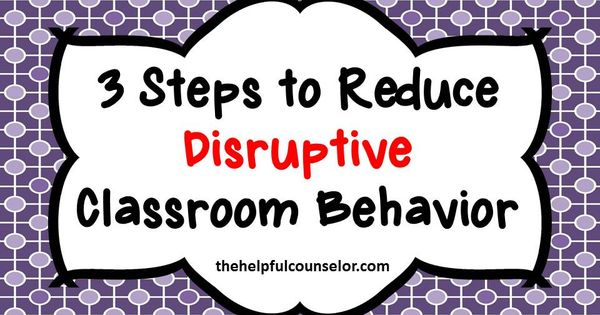 disruptive behaviour in the classroom essay Gather ideas for managing the various types of challenging behaviors that  students may exhibit in your classroom at some point during the.
