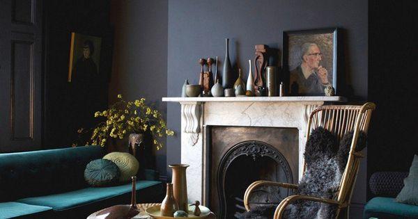 Peinture salon moderne – apprivoisez les couleurs sombres !  Design ...
