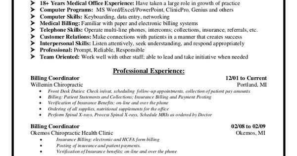 medical billing supervisor resume sample    resumesdesign com  medical