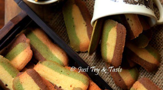 Just Try & Taste: Resep Kue Kering Lidah Kucing Tiga Rasa   Cookies ...