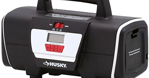 Husky 12v 120v Home Auto Inflator Portable Digital Air Compressor Tire Mattress Whg4832 Tyg43498ty4u309332 Fi Inflators Tire Inflator Digital Pressure Gauge