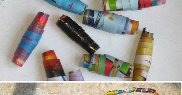 Kids Craft - Rolled Paper Bead Necklaces