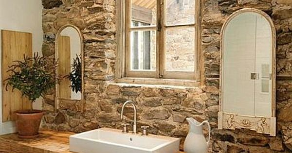 So perfect, a bath for a rustic home. Love it. decorating modern