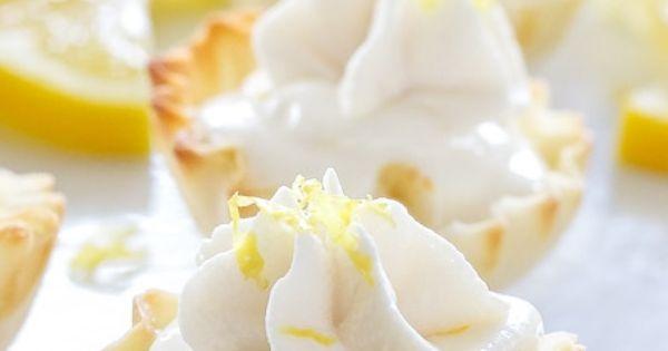 Lemon cream pies, Lemon cream and Phyllo cups on Pinterest