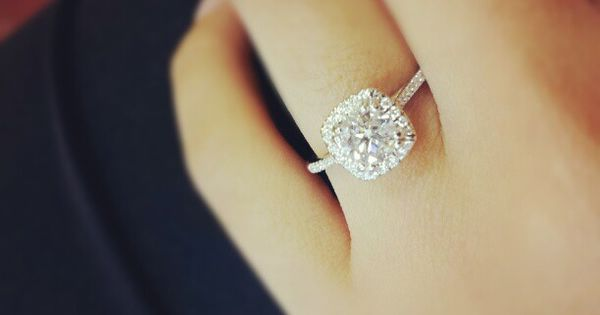 Dream engagement ring!!! xx cushion cut diamond in a halo setting and