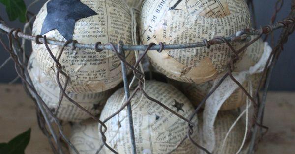 Vintage papier mch pre Nol pre Nol trs ancienne