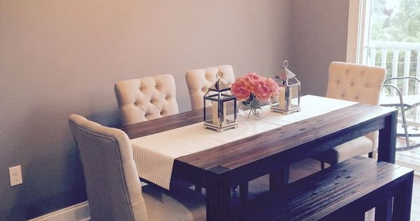 Dining Room: Avondale (Macy's) Table & Bench With Fabric