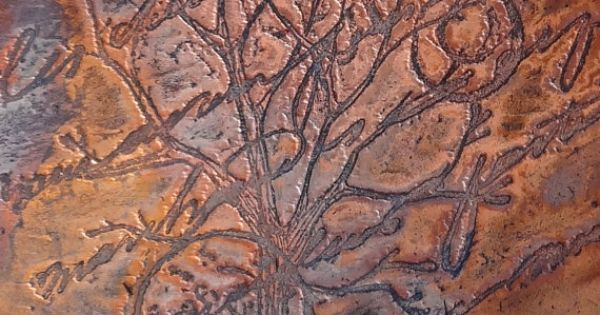Etched Copper Sheet Metal Patina Copper Sheet French
