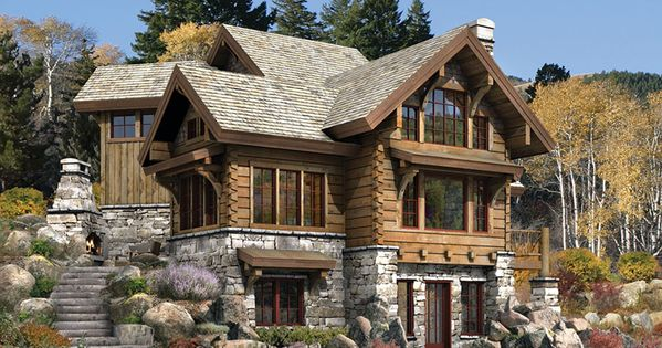 log cabin. dream house for Colorado!