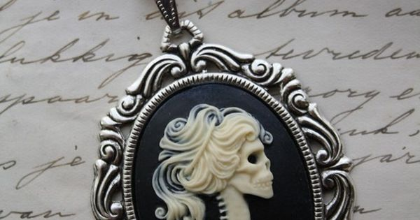 gothic skeleton cameo necklace lady lolita: sick, twisted, and gorgeous
