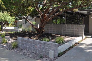 Stacked Concrete Blocks Modern Landscape By Huettl Landscape Architecture Modern Landscaping Modern Landscape Design Front Yard Mid Century House