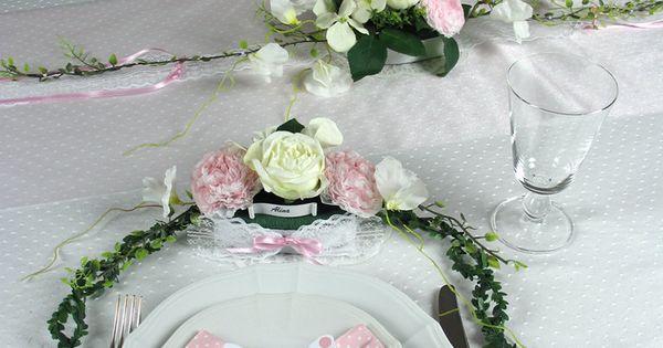 tischgesteck rosa taufe m dchen tischdeko taufe. Black Bedroom Furniture Sets. Home Design Ideas
