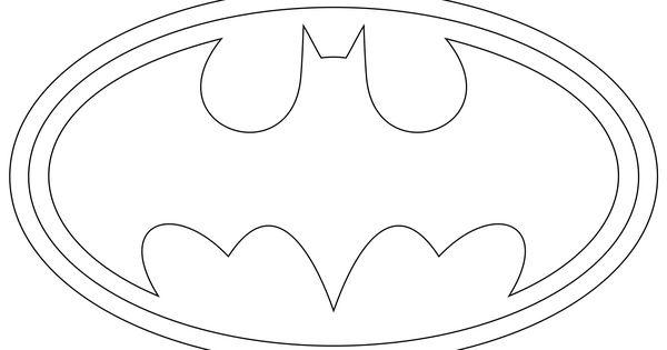 Batman Free Printable batman logo coloring pages
